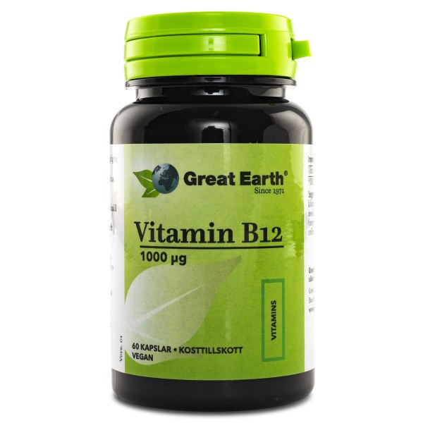 Great Earth Vitamin B12 1000 mcg Vegan 60 tabl
