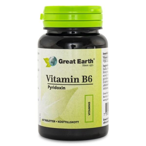 Great Earth Vitamin B6 60 tabl