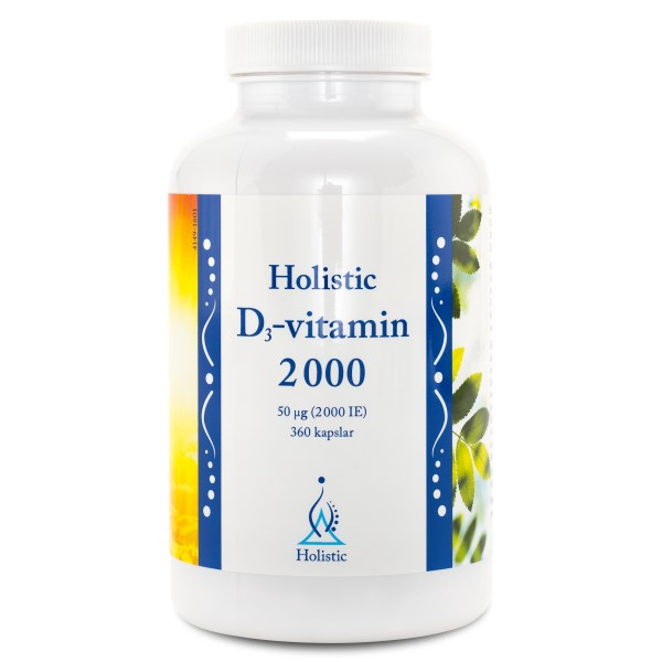 Holistic D3-vitamin 2000 IE 360 kaps 2000 IE