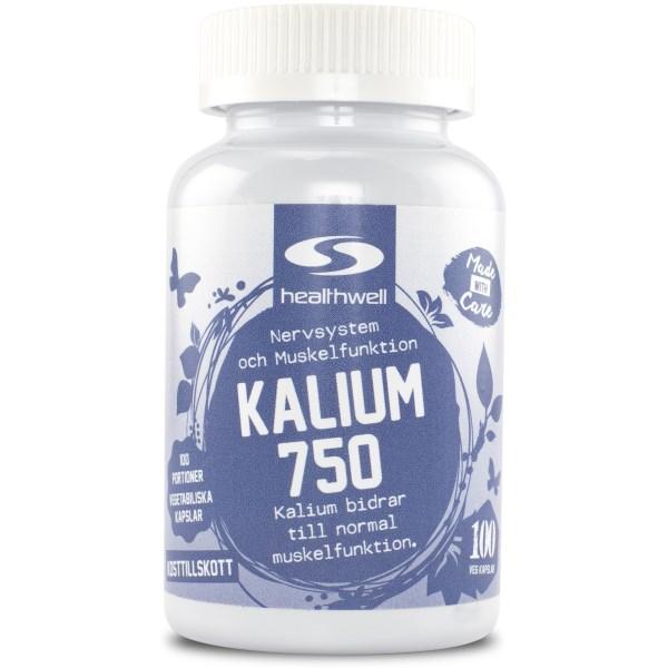 Kalium 750 100 kaps