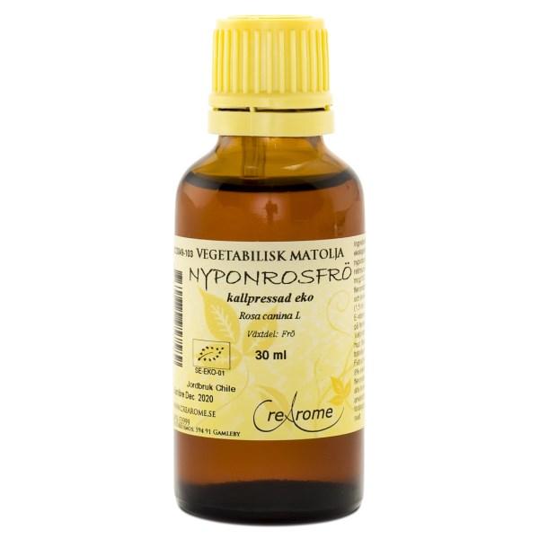 Crearome Kallpressad Nyponrosfröolja 30 ml