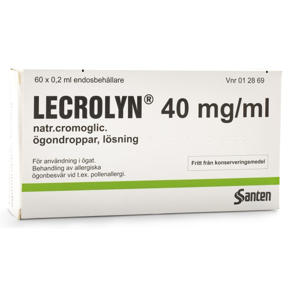 Lecrolyn Ögondroppar 40 mg/ml 60-pack