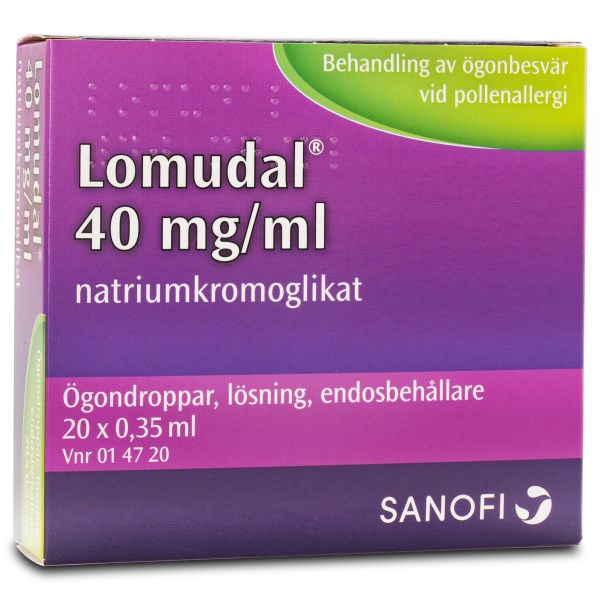 Lomudal Ögondroppar 40 mg/ml 60-pack