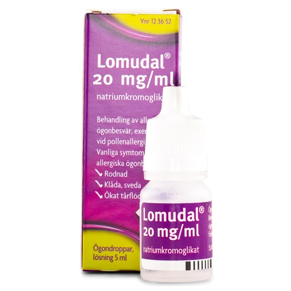 Lomudal Ögondroppar Flaska 20MG/ML 5 ml