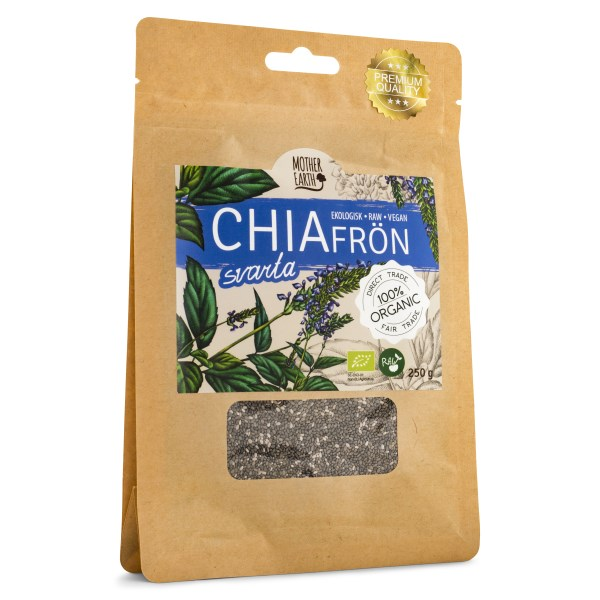 Mother Earth Chiafrö Svarta RAW & EKO 250 g
