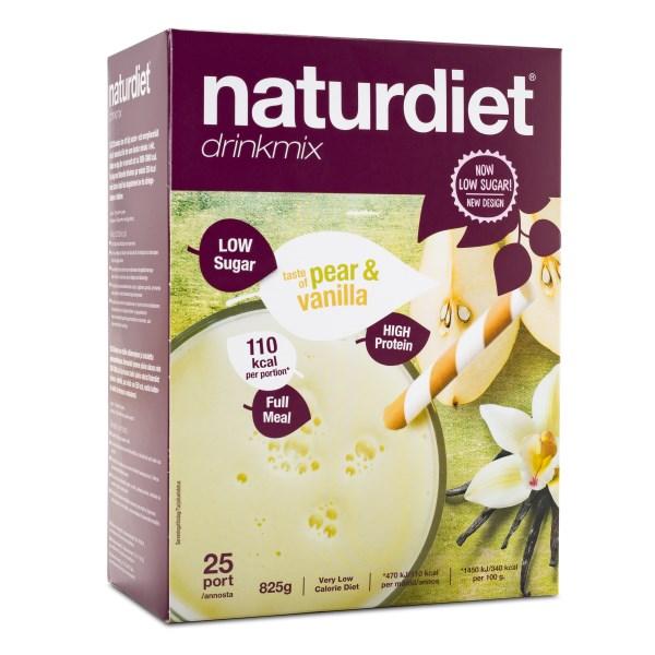 Naturdiet Low Sugar Drinkmix 25 portioner Pear Vanillla