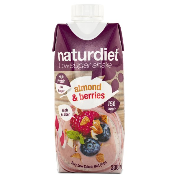 Naturdiet Low Sugar Shake Almond & Berries 1 st