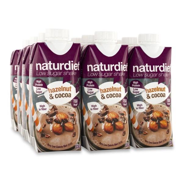 Naturdiet Low Sugar Shake Hazelnut & Cocoa 12-pack