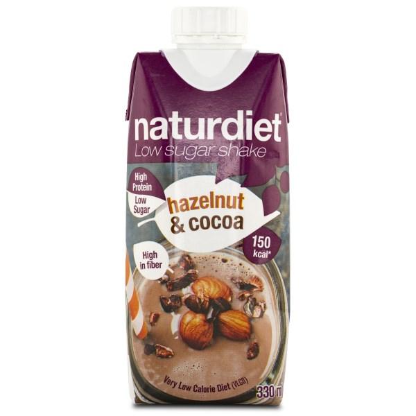 Naturdiet Low Sugar Shake Hazelnut & Cocoa 1 st