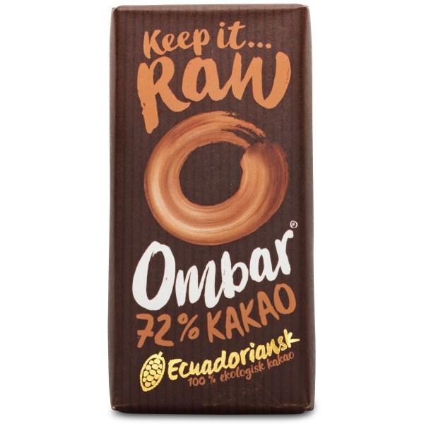 Ombar Probiotic Raw EKO Dark 72% 1 st