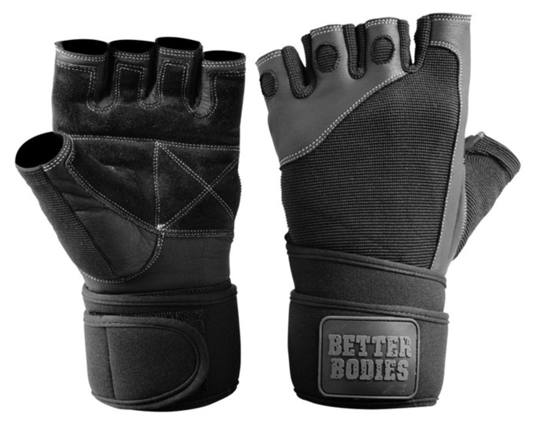 Better Bodies Pro Wrist Wrap Gloves,  - Better Bodies