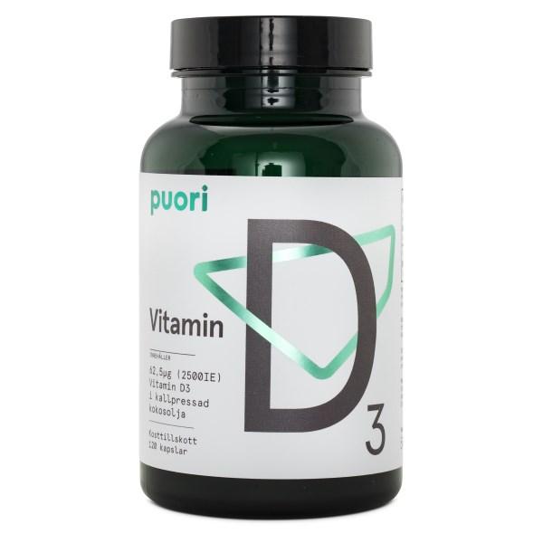 Puori Vitamin D3 120 kaps