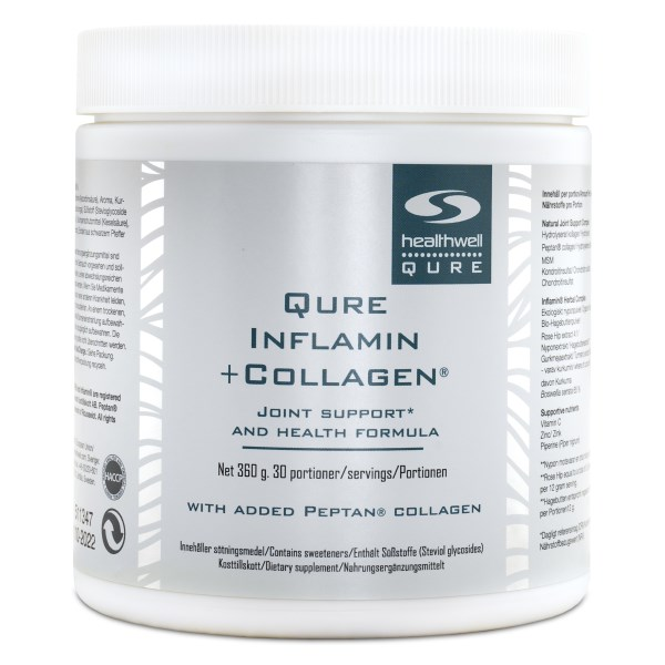QURE Inflamin+Collagen Naturligt äpple 360 g