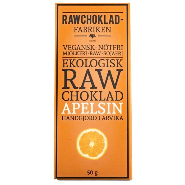 Rawchokladfabriken Rawchoklad EKO 50 g Apelsin