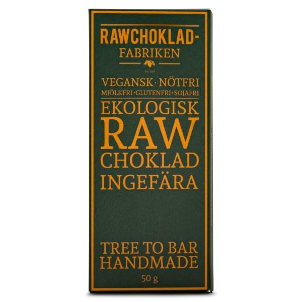 Rawchokladfabriken Rawchoklad EKO 50 g Ingefära