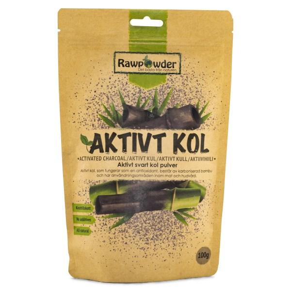 RawPowder Aktivt Kol Pulver 100 g