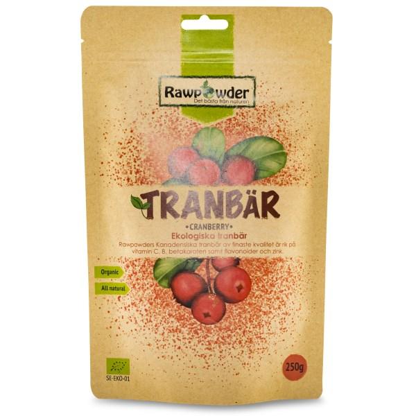 RawPowder Ekologiska Tranbär 250 g
