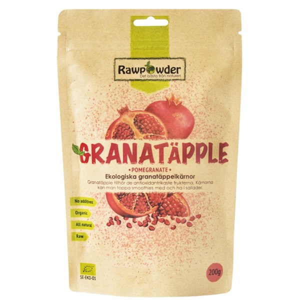 RawPowder Granatäpplekärnor 200 g