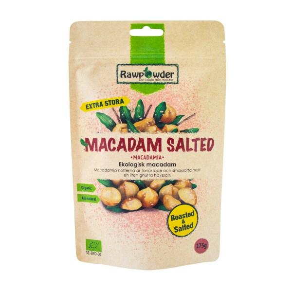 RawPowder Macadam Nötter Saltade/Rostade 175 g