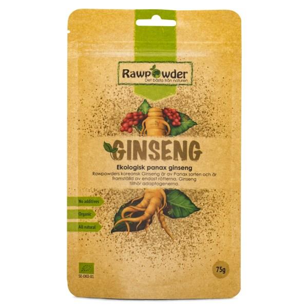 Rawpowder Panax Ginseng EKO 75 g