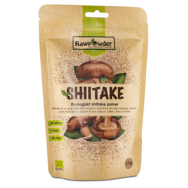 RawPowder Shiitake-pulver EKO 125 g