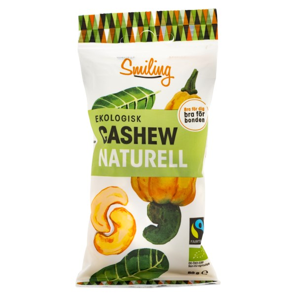 Smiling Cashew Fairtrade EKO Naturell 50 g