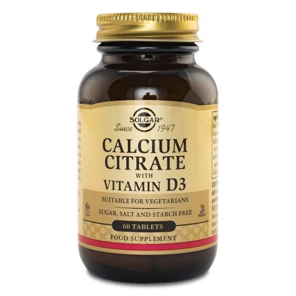 Solgar Kalciumcitrat med Vitamin D3 60 tabl