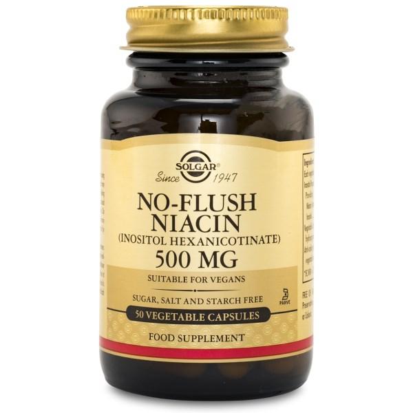 Solgar No-Flush Niacin 50 kaps