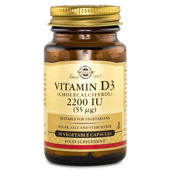 Solgar Vitamin D3 2200 IE 50 caps