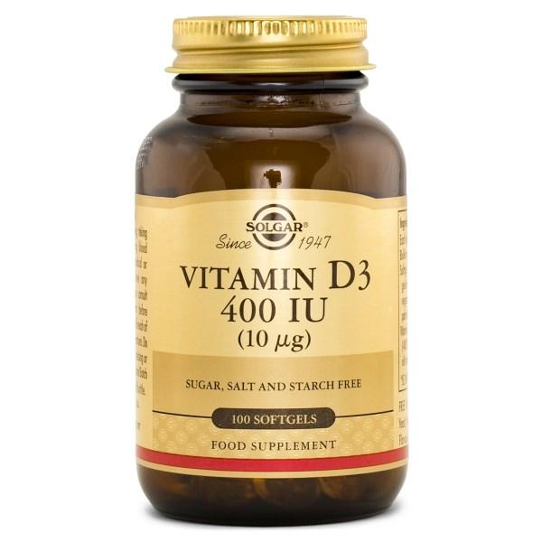 Solgar Vitamin D3 400 IE 100 softgel