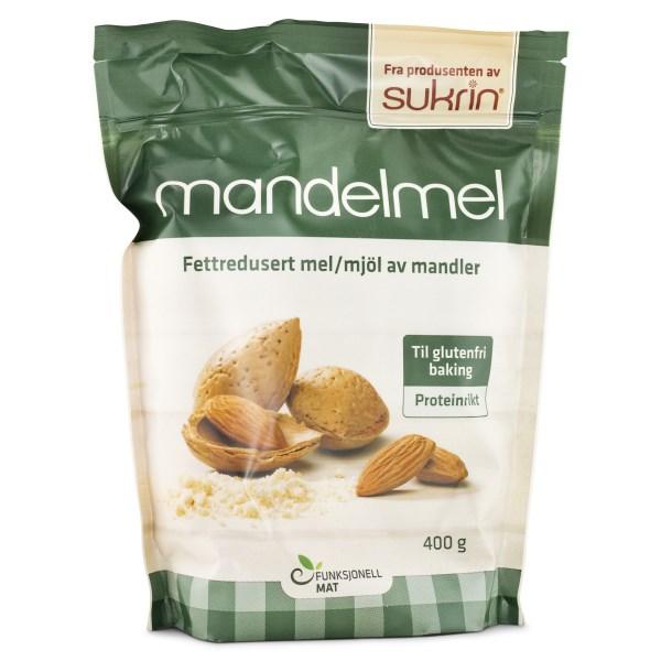 Sukrin Mandelmjöl Fettreducerat 400 g