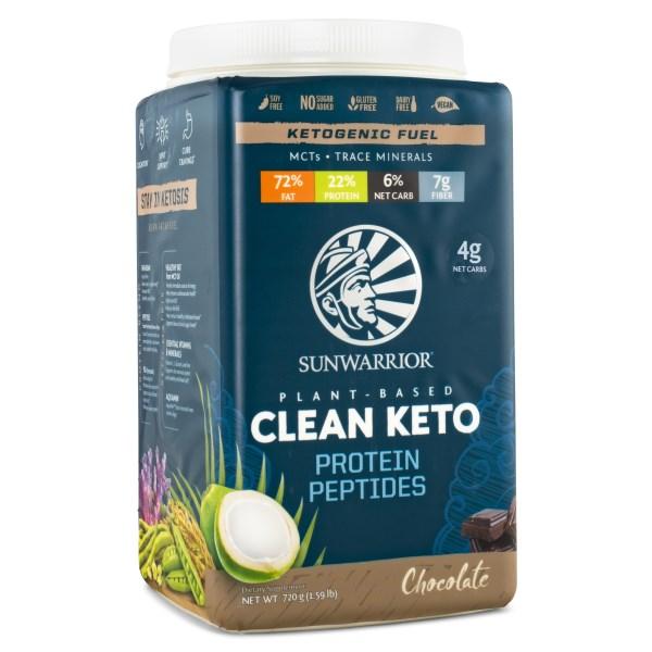 Sunwarrior Clean Keto Protein 720 g Choklad