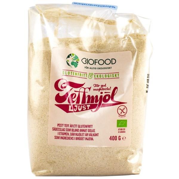 Biofood Teffmjöl Ljust 400 g