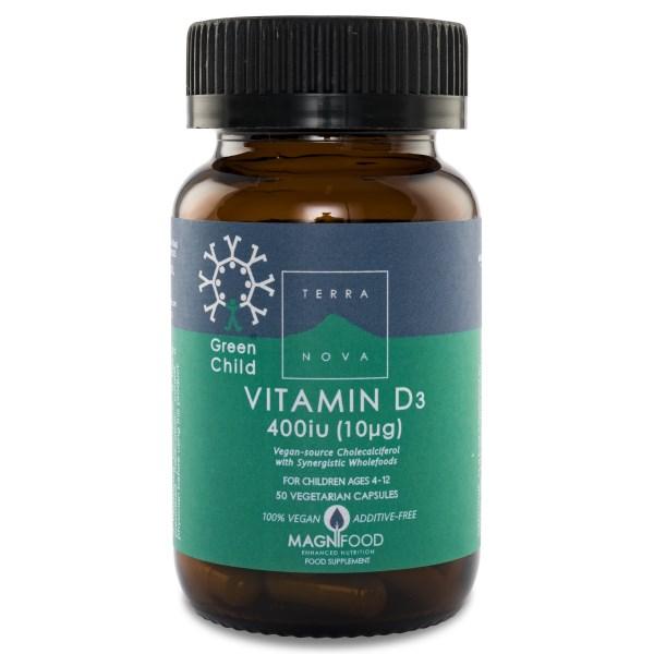 Terranova D3-vitamin Barn  50 kaps