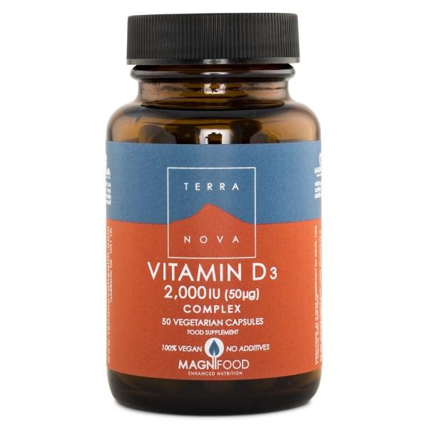 Terranova Vitamin D3 2000IU Complex 50 kaps