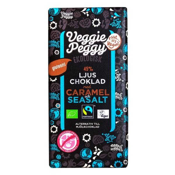 Veggie Peggy Choklad 85 g Karamell & Havssalt