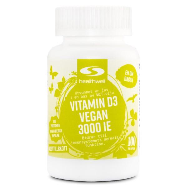 Vitamin D3 Vegan 3000 IE 100 kaps