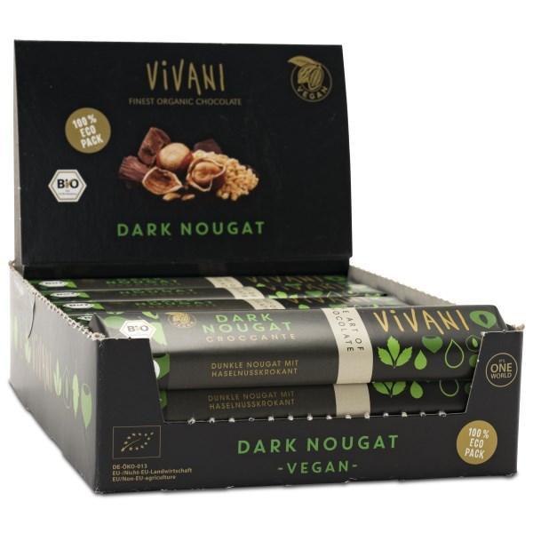 Vivani Mörk Choklad Nougat & Hasselnöt 18-pack