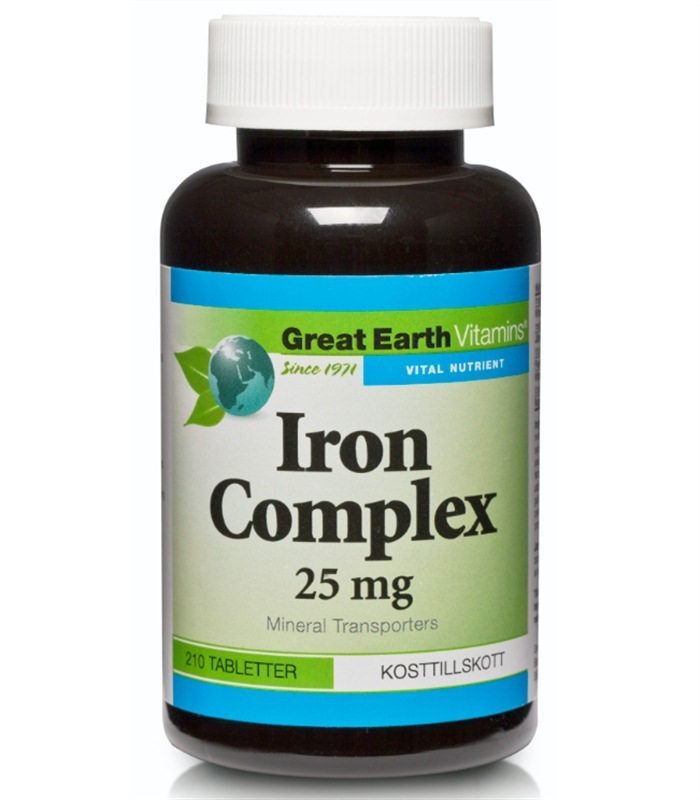Iron Complex 25 mg, Vitaminer och mineraler - Great Earth