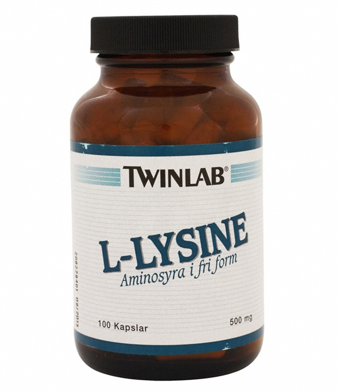 L-Lysine, H�lsokost OLD - Twinlab
