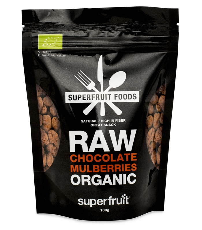 Raw Chocolate Mulberries, Livsmedel - Superfruit