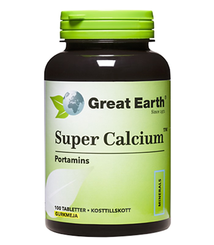 Super Calcium, Vitaminer och mineraler - Great Earth
