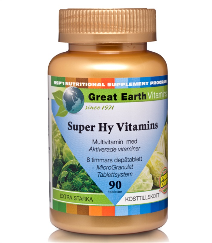 Super Hy Vitamins Premium, Hälsa & Välmående - Great Earth